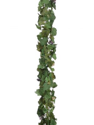 07853021 GRAPE IVY GRAPE CHAIN GARLAND 66 IN Green