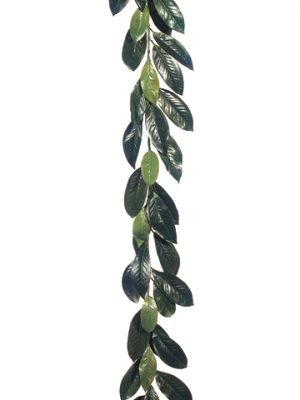 6' Magnolia Leaf Garland w/44 Leaves Green