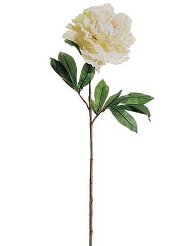 "31.5"" French Peony Spray Ivory"