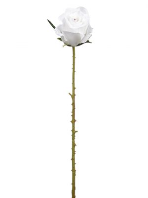 "20.75"" Rose Stem White Lavender"