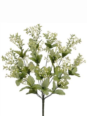 "19"" Wild Baby's Breath Mixed Bush x11 White"