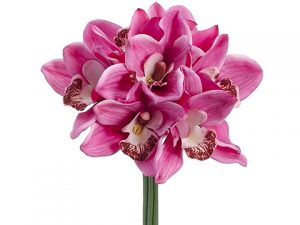 "12"" Real Touch Cymbidium Orchid Bouquet Pink"