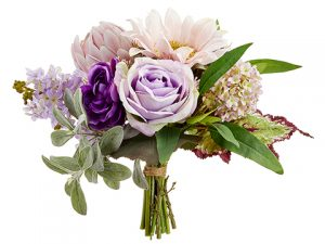 "11"" Rose/Sunflower/Protea Bouquet Pink Lavender"