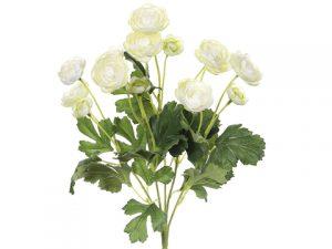 """13"""" Mini Ranunculus Bush x5 Cream"""