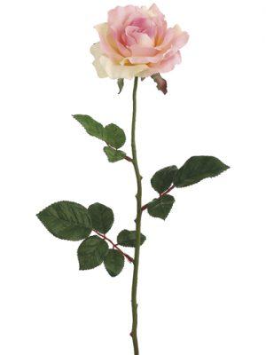 """27"""" Single Large Rose Spray x1 Pink"""