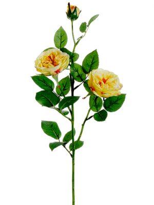 """29"""" Garden Rose Spray Yellow"""