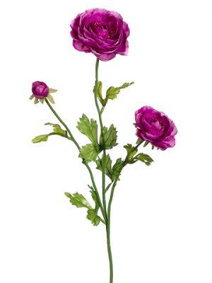 "27"" Ranunculus Spray x3 Violet"