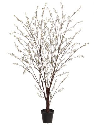 "82.5"" Plastic Berry Tree in Plastic Nursery Pot Two Tone Green"