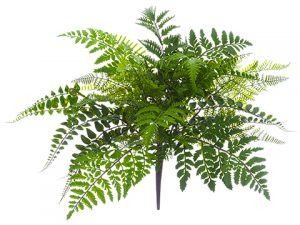 "17"" Mixed Fern Bush Green"