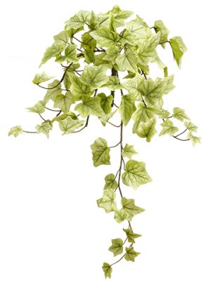 "22"" One-Piece Ivy Bush With 78 Leaves Cream Green"