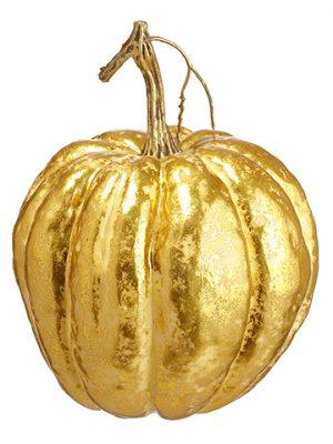 """7""""H x 5.5""""D Pumpkin Two Tone Gold"""