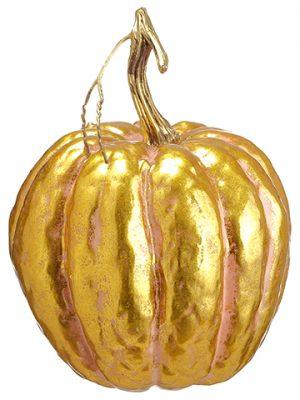"""7""""H x 5.5""""D Pumpkin Pink Gold"""
