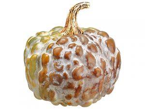 """5.5""""H x 5.5""""D Pumpkin Butterscotch Green"""