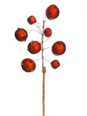 "14"" Jingle Bell Spray Red"