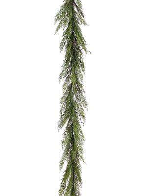 6' Cedar Twig Garland Green