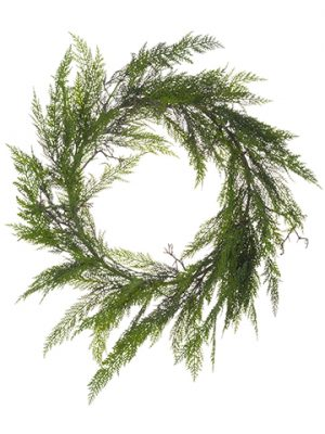 "28"" Cedar Twig Wreath Green"