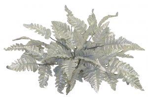 """12"""" long leather fern Silver"""
