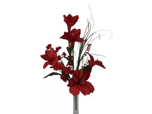 """22"""" tall Lily and hydragea arrangement"""